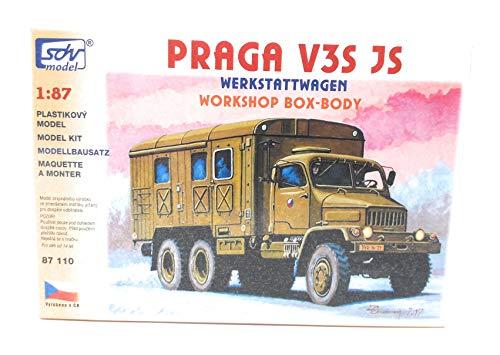 SDV LKW Truck Praga V3S JS Werkstatt Wagen Kunststoff Modellbausatz 1:87 H0