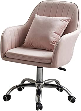 Chaise de bureau ergonomique en velours avec coussin rembourré, hauteur réglable, pivotante, chaise de bureau moderne pour or