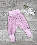 Pumphose Jersey haremshose Gr. 56-110, hose mädchen, rosa Anker, Babyhose, Kinderhose