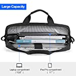 "Tomtoc 15. 6 inch laptop shoulder bag for 16-inch new macbook pro a2141, anti-shock laptop messenger bag briefcase fits… 12 compatibility - the shoulder bag is compatible with 15. 6"" laptop, 16-inch new macbook pro 2019, 15-inch macbook pro, 15 inch surface book 2, dell xps 15,10. 5"" ipad pro with apple pencil, etc. External dimension: 16. 30"" x 12. 60"". Large capacity – main compartment and 3 external pocket to house your laptop, ipad pro and all accessories needed. Ultra-protective – extra protective padding on the bottom of laptop pocket. Durable lining interior for better protection."