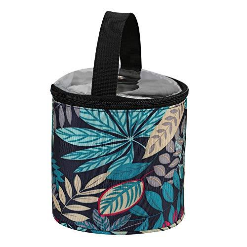 F Fityle Bärbar garnförvaringspåse med dragkedja och övre hål, bärbar stickad väska för skinn, virka krokar och nålar hemma vuxna