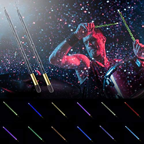 Seasons Shop Drum Stick LED Palillos de Colores Ligeros Prestaciones de Rendimiento Palos Luminosos para la Fiesta de la Etapa bearable