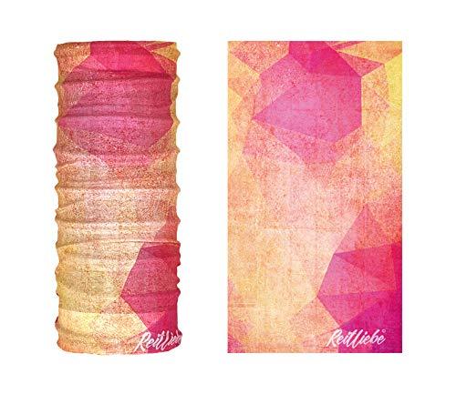 Generisch REITLIEBE Sommerglück - Bedrucktes Multifunktionstuch Bandana Halstuch Kopftuch: Face Shield- Material ist flexibel und atmungsaktiv - Maske fürs Reiten, Motorrad-, Fahrrad- und Skifahren