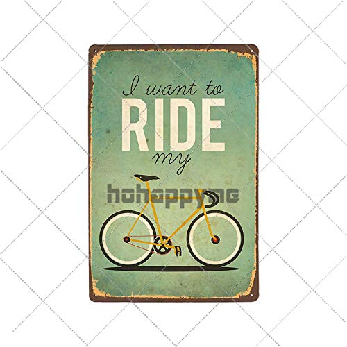 bestmugcupSS Retro Bicycle Metal Tin Signs Riding Bike Vintage Poster Bar Pub Club Room Decoration Wall Plaque Home Decor 2033001