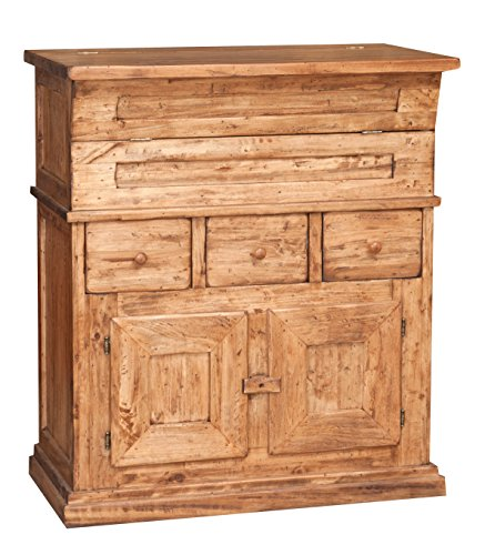 Madia in legno massello di tiglio finitura naturale 81x45x92 cm