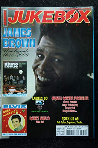 JUKEBOX 252 * 2008 * JAMES BROWN Fac-Similé Disco Revue Chaussettes Noires ELVIS PRESLEY