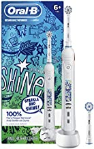 Oral-B Kids Electric Toothbrush with Coaching Pressure Sensor and Timer, New! Sparkle & Shine