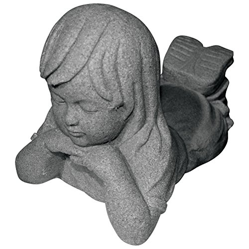 "Emsco Group Day Dreaming Girl Statue – Natural Granite Appearance – Made of Resin – Lightweight – 11"" Height"