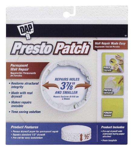 Dap 09155 Presto Patch Drywall Plug, 1/2-Inch, 3-7/8-Inch