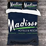 KUKHKU Billy Madison Radisson Hotels Mix - Juego de cama de 3 piezas, funda de edredón de 86 x 70 cm, juego de cama con 2 fundas de almohada