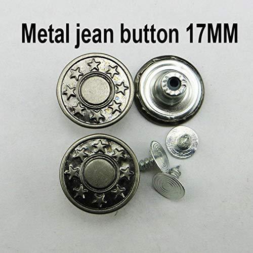 30 STKS 20 MM GEMENGDE metalen jeans knoop naaien kleding accessoires broek jean knop decoratie JMB-023,6