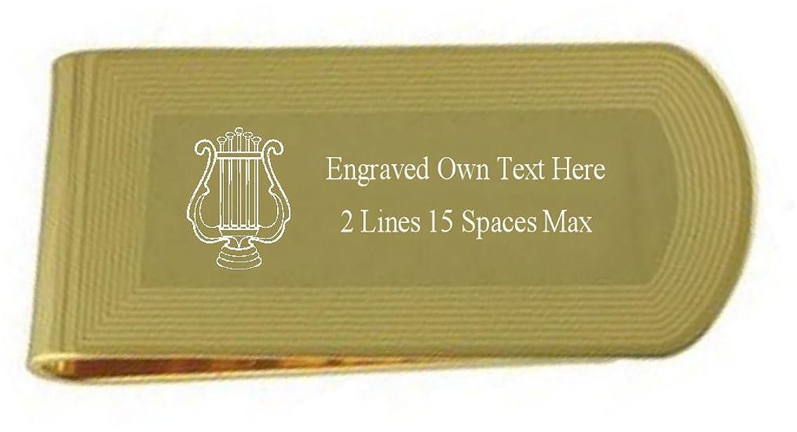 アクティブ銛保安Organistゴールド刻印Masonicマネークリップ刻印記念品ボックス