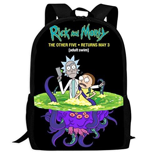 IUBBKI R-ick y M-orTy Mochilas escolares cómodas y ligeras Mochila con múltiples bolsillos para niños / jóvenes / niños / niñas