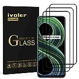ivoler 3 Unidades Protector de Pantalla para OPPO Realme 8 Pro/Realme 8 4G, [Cobertura Completa] Cristal Vidrio Templado Premium, [Dureza 9H] [Anti-Arañazos] [Sin Burbujas]