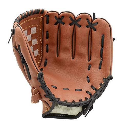 LGYKUMEG Sport und Freizeit Pitcher Batting Handschuhe Baseball-Handschuhe mit Ball-Softball Handschuhe Kinder Erwachsener Werfen Rechte Hand Linke Hand Glove,Braun,11.5in