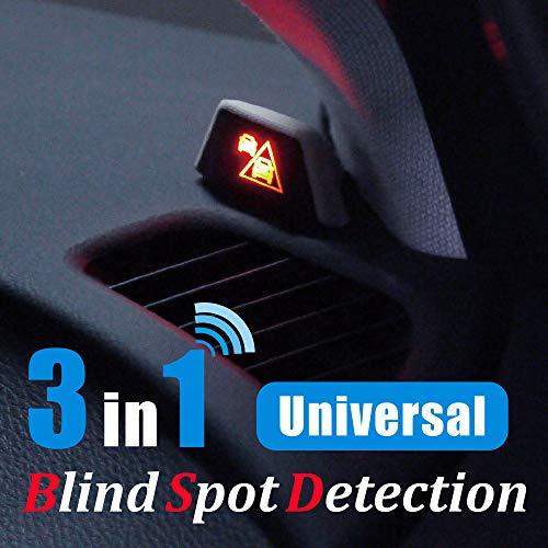 Universal Blind Spot Detection (BSD) + Lane Change Assistant (LCA) + Rear Cross Traffic Assistant (RCTA), 3 in 1