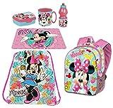 Juego de mochila 3D Minnie Mouse Tropical Disney, bolsa de deporte, merienda, escuela, guardería, tiempo libre