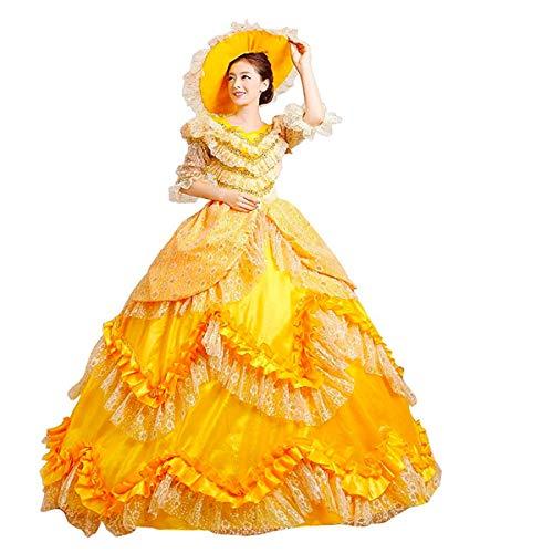 Rococó Barroco Marie Antonieta Vestidos de Bola Siglo XVIII Renacimiento Periodo Histórico Vestido Victoriano Vestido Medieval - - Medium
