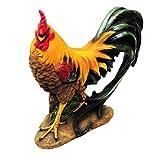 Figure in poliresina di 1PLUS gallo, dipinto a mano, decorazioni da giardino animali, figu...