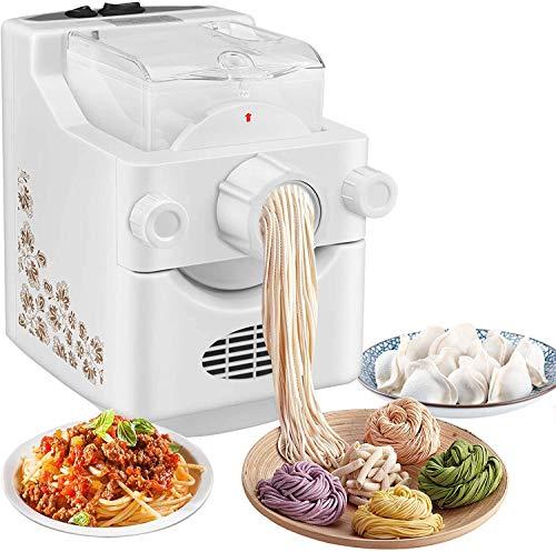 Kacsoo Macchina per la Pasta Macchina per Pasta Elettrica, Pasta Maker, Macchina Automatica per la Pasta con 9 Impostazioni di Spessore e 3 Stampi per Gnocchi per Fare Spaghetti Fettuccine Penne