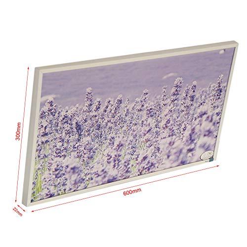 Infrarot-Heizung-Panel Raumheizung Elektrische Heizungen 180watt Weiß Rahmen Lavendel Bild 3*