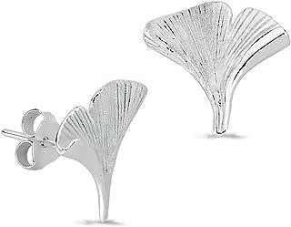 SilberDream bijou breloque en argent sterling 925 en forme de ginkgo FC3120
