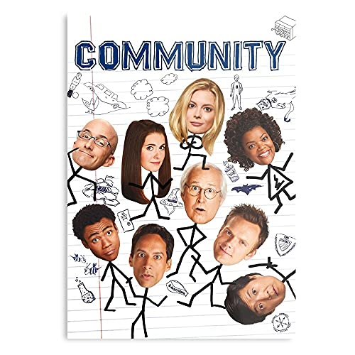 Glendale Joel Community College Comedy Movie McHale Unitedstates - The Best and Newest Poster for Wall Art Home Decor Room I - Customize