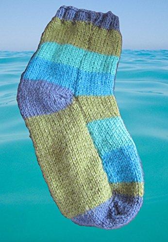 Strickanleitung Socken Gr.35-38 mit normalen Nadeln, ohne Nadelspiel!!!!: Auch für Anfänger ideal