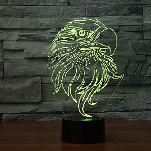 Creative Eagle Head - Lámpara de mesa (20 colores, cambia de color)