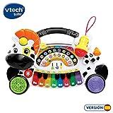 VTech Baby–remi–La Zèbre marchosa, Piano–Musique, Notes et Instruments à Clavier interactif, différentes Fonctions et activités Musicales (Vtech 3480–179122)
