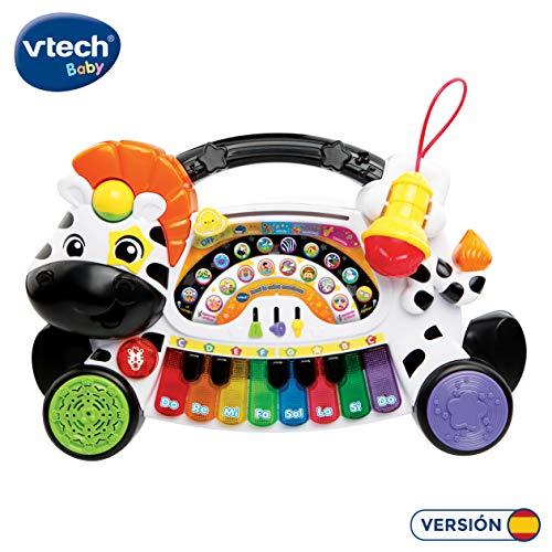 Vtech Baby – Remi Zebra uitgesproken lerend, leert piano muziek, noten en instrumenten met interactief toetsenbord, verschillende functies en muziekactiviteiten (Vtech 3480 – 179122)