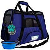 PetAmi Premium Airline Approved Soft-Sided Pet Travel Carrier | Ideal for Small - Medium Sized Cats, Dogs, and Pets | Ventilated, Comfortable Design with Safety Features (Large, Royal Blue)