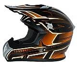 Protectwear casque de moto, casque de Cross, casque Enduro, orange-noir, FS603-OR, Taille: M