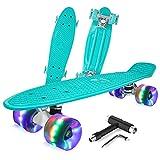 BELEEV Skateboard Komplette Mini Cruiser Skateboard für Kinder...