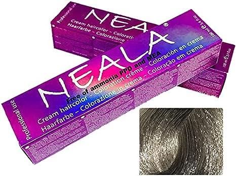 Matizador Profesional SIN AMONIACO y libre de PPD y MEA - 12.65 - Matizador de color especial para mechas PLATA - NEALA 100ml.