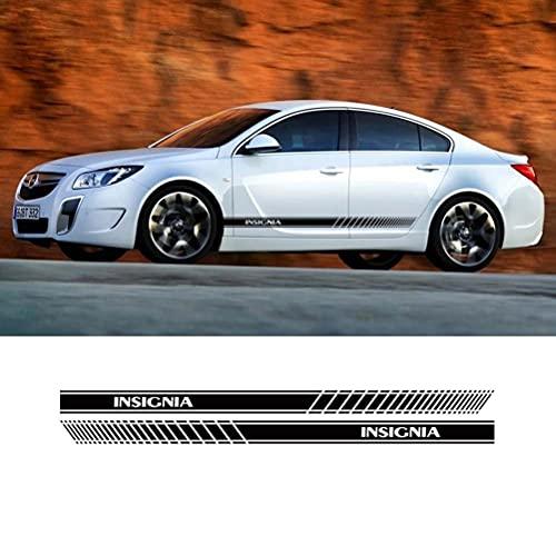 2 uds falda lateral de puerta pegatina de rayas deportivas decoración del cuerpo calcomanías de vinilo Exterior para Opel Insignia OPC accesorios estilo de coche