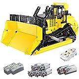 KEAYO Juego de construcción con sistema de control remoto Bulldozer con 7 motores, 1866 piezas grandes, bloques de sujeción, compatible con Lego Technic
