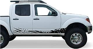 Bubbles Designs Decal Sticker Vinyl Mud Splash Compatible with Nissan Frontier Navara 2004-2015 (Black)