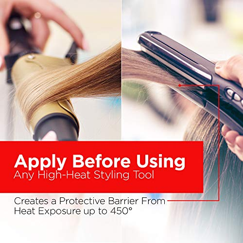 HSI PROFESSIONAL Argan Oil Heat Protector |Protect up to 450º F from Flat Irons & Hot Blow Dry | Sulfate Free, Prevents Damage & Breakage | Made in the USA | 8 Ounce, Packaging May Vary