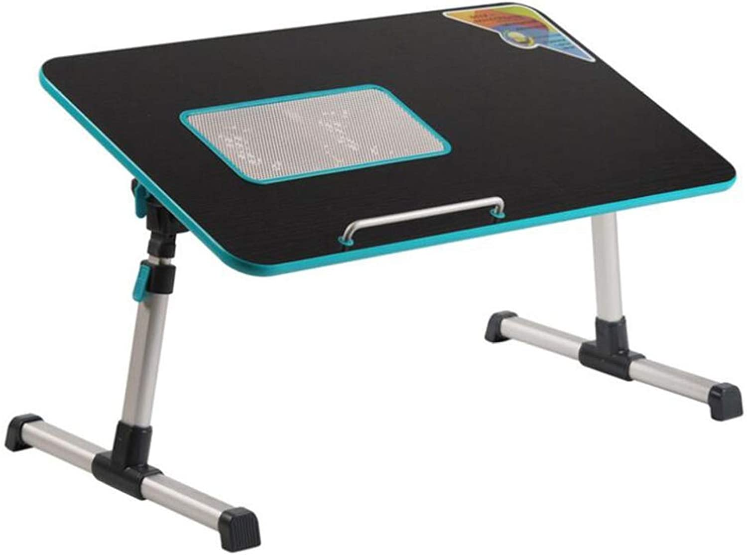 Laptop Bed Table Desk with Cooling Fan, Portable Lazy Table, Book Reading Holder (color   Black)