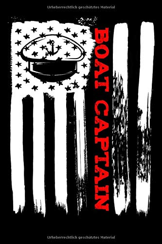 Boat Captain American Flag: A5 Punkteraster Notizbuch für Kapitäne, Bootfahrer, Segler, Seemänner