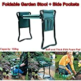 Garden Kneeler Stool Seat and Foam Pad Bench 2 in 1 Portable Folding