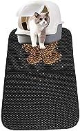 Cat Litter Mat, ZoneYan Litter Tray Mat Foldable, Cat Litter Tray Pads, Cat Litter Mat Double Layer,...