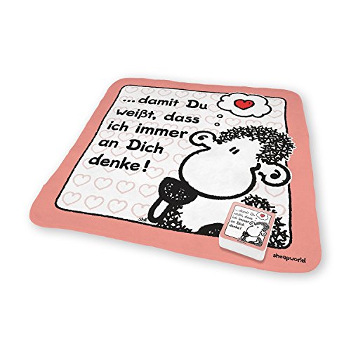 Sheepworld 42692 Magic Towel… an Dich Denke, Zauberhandtuch, 100% Baumwolle, 30 cm x 30 cm, Bunt, 30 x 30 x 0.1 cm