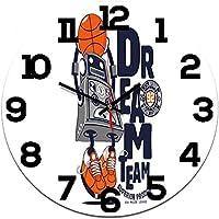 壁掛け時計、現代の壁掛け時計、クリエイティブミュートクォーツ時計、ロボットラウンドデジタルアクリル時計、子供用寝室アイランドキッチンオフィス、壁掛け時計