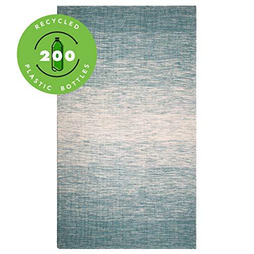 FAB HAB Stockholm - Tapis Sarcelle (Bleu-Vert) en Polyéthylène recyclé (Fibres Polyester) pour intérieur/extérieur (120 cm x 180 cm)