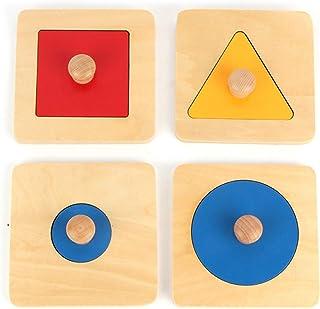 New Sky Enterprises Montessori Knobbed Geoboard Big Size Geometric Shape Match Game Geography Puzzle Sensory Material Educ...