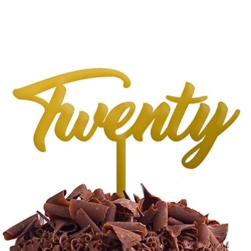 Directly Personalised Gâteau Twenty 20 Fête d'anniversaire .b. Rapide et Gratuit Royaume-Uni Livraison