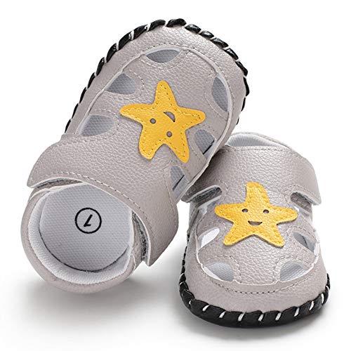 Miyanuby Zapatos Bebe Niño Sandalias Verano Zapatilla de Deporte Casual Suela Suave Antideslizante Primeros Zapatos para Bebés Niños 0-6 Meses, 6-12 Meses, 12-18 Meses