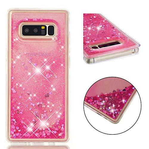 MSOSA Funda Samsung Galaxy Note 8/N950 Silicona Purpurina Carcasa TPU Cristal Bumper Fundas Case Cover para Samsung Galaxy Note 8/N950_Rosa
